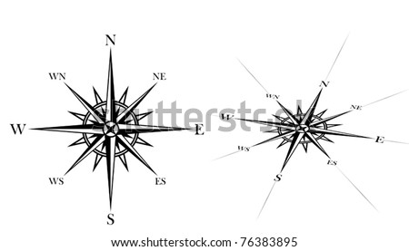 compass rose set