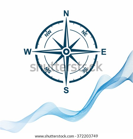 Compass vector icon - stock vector