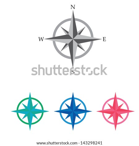 Compass vector Icon. navigation and traveling sign. travel icon - stock vector