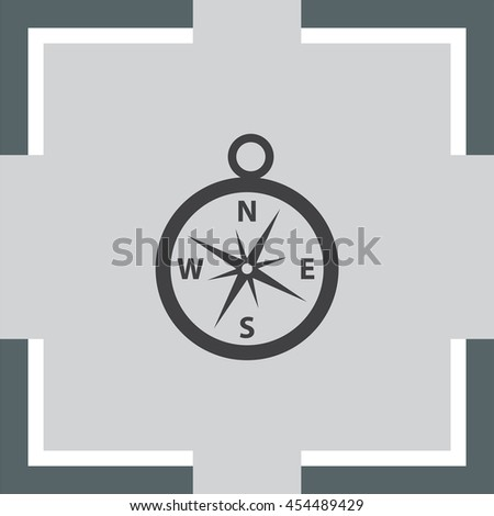 Compass vector icon. Navigation device sign. Direction shower symbol.