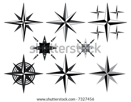 Compass vector on white background