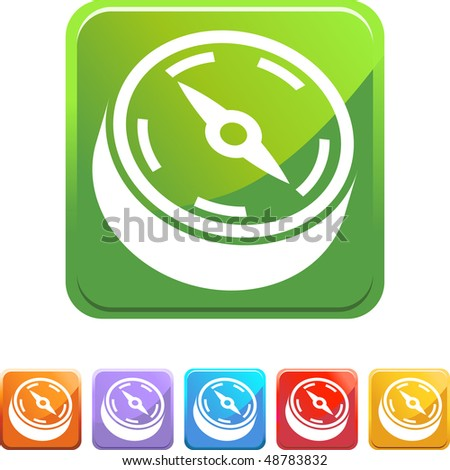 Compass web button isolated on a background. - stock vector