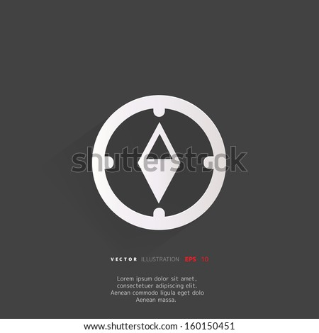 Compass web icon - stock vector