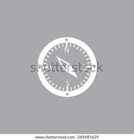 Compass web icon - stock vector