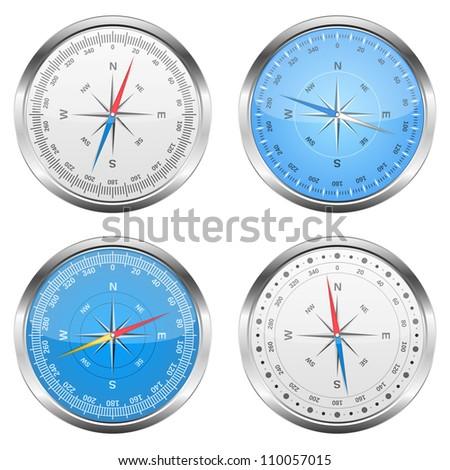 Compasses, vector eps10 illustration - stock vector