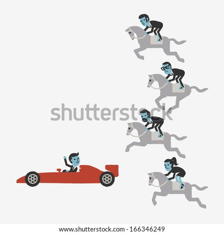 Competition - stock vector