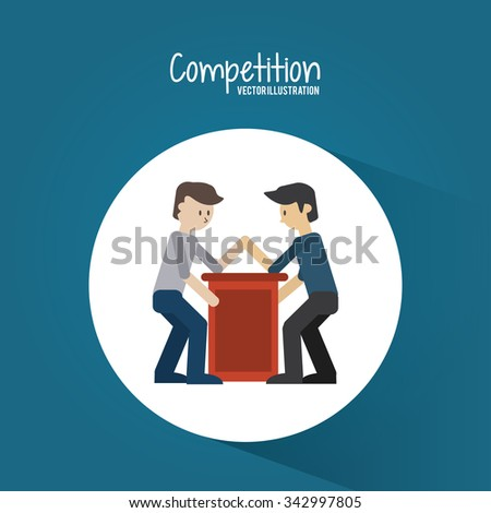 Competition concept and successful icons design, vector illustration 10 eps graphic.