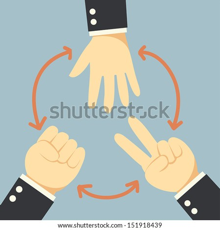 Competition hand - stock vector