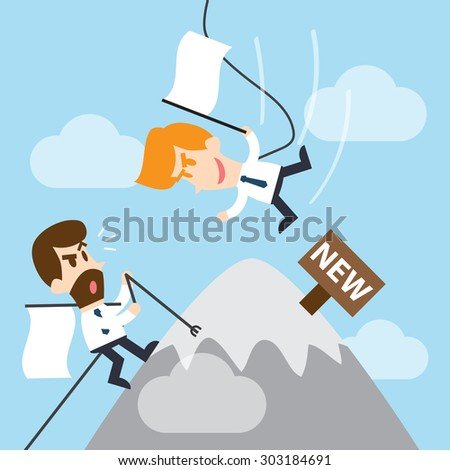 competition in business  - stock vector