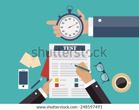 Competitive business concept - stock vector