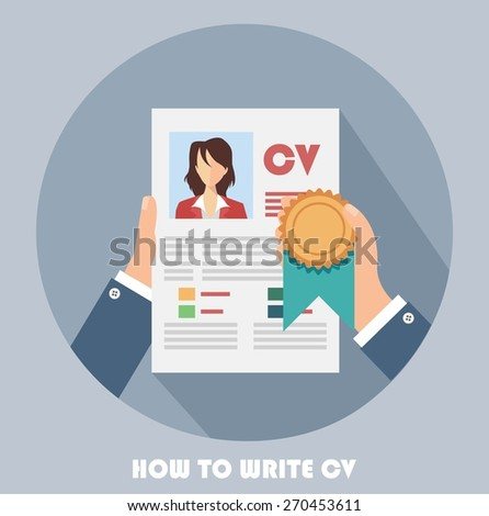 Competitive business concept with business cv resume - stock vector