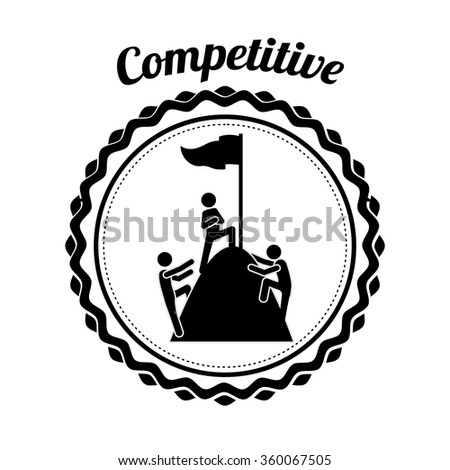 competitive spirit design  - stock vector