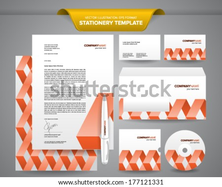 Complete set business stationery templates such stock vector complete set of business stationery templates such as letterhead envelope business card etc wajeb Image collections