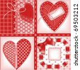 complete set of cards. Valentines Day. heart 2. Similar in a portfolio - stock vector