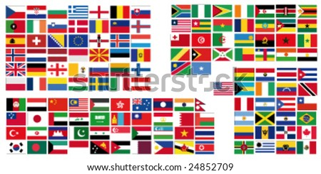 Complete set of Flags of the world
