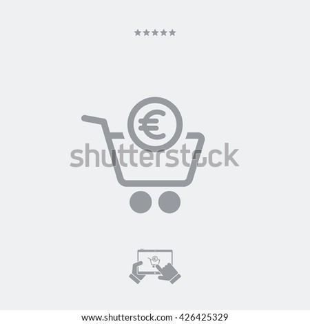 Complete shopping paying in Euro - stock vector