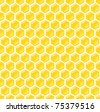 completely seamless honeycomb pattern - stock vector