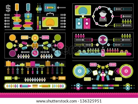 complex infographics - stock vector
