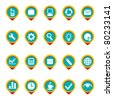 Composed icon set in color. Vector illustration. - stock photo