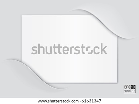 Composite empty page with places for photo, eps10  vector background - stock vector