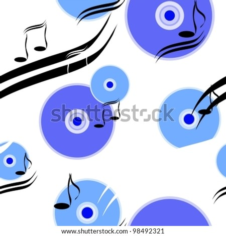 Composition from disks. Possibility to edit, EPS8(CMYK),  all parts (object) closed. - stock vector