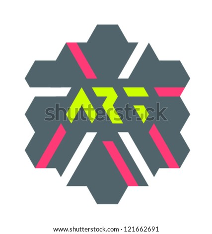 composition with triangles - stock vector