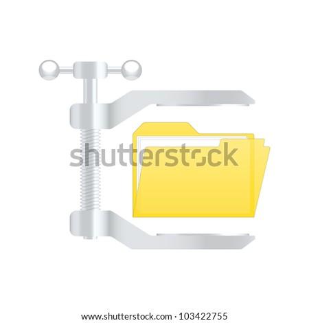 Compress archive icon. Vector illustration - stock vector