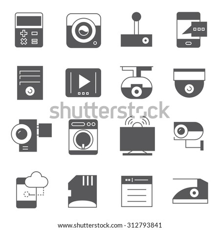 computer and electronic device icons, gadget icons set