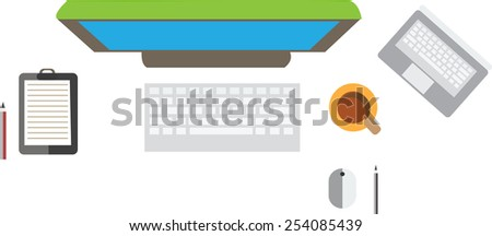computer and notebook vector