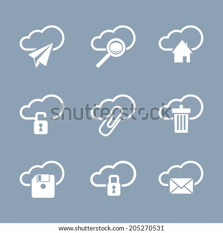 Computer and office icon set - stock vector