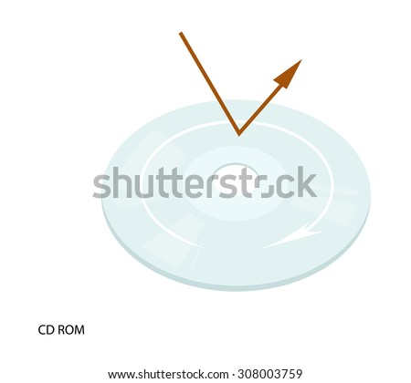 Computer and Technology, CD, DVD Isolated on White Background, The Medium Can Store any Kind of Digital Data. - stock vector
