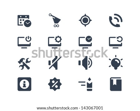 Computer and Web icons - stock vector