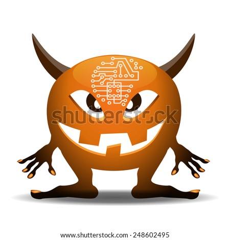 Computer bug - stock vector