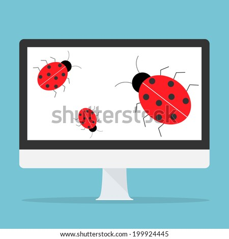 Computer bug concept. - stock vector