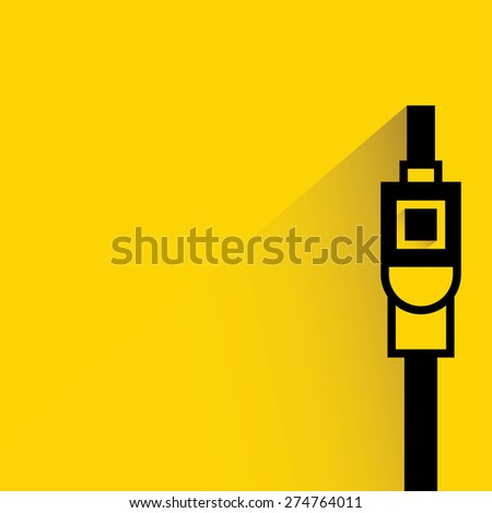 computer cable wire, plug, usb - stock vector
