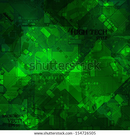 Computer circuit board, abstract background, eps10 - stock vector
