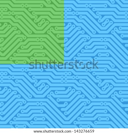 Computer circuit board seamless background - stock vector