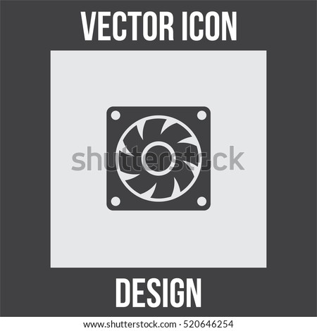 Computer Cooling Fan Vector Icon Pc Stock Vector 520646254 ...