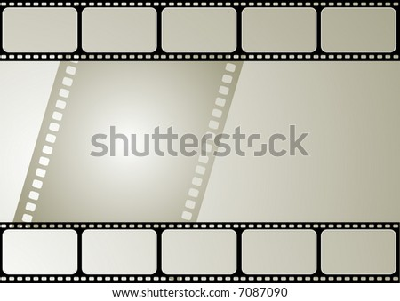 Computer designed editable vector film frame - stock vector