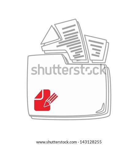 computer desktop element icon my document - stock vector