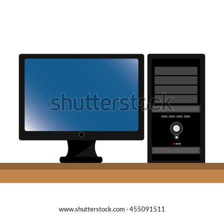 computer desktop isolated icon design, vector illustration
