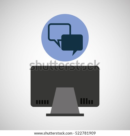 computer device bubble speech network icon vector illustration eps 10