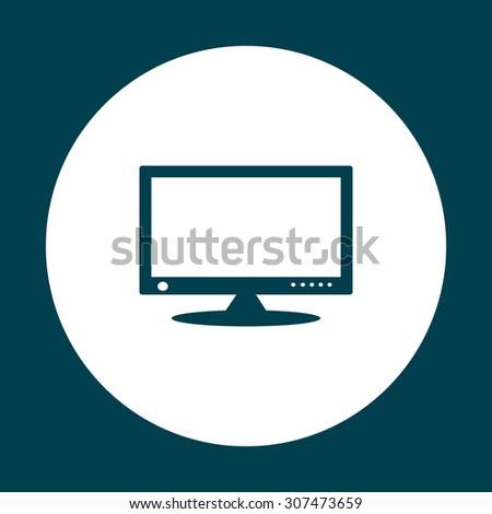 computer display. icon. vector design - stock vector