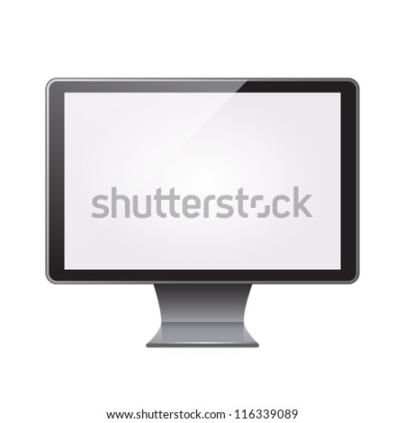 Computer display isolated. Vector - stock vector