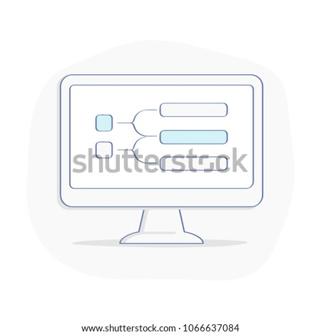 Computer display block diagram flowchart process stock vector computer display with block diagram flowchart or process chart roadmap timeline presentation ccuart Image collections
