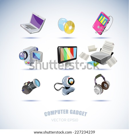computer gadgets. technology concept - vector illustration - stock vector