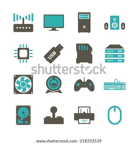 Computer Hardware - stock vector