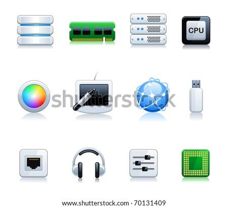Computer Icon Set - stock vector