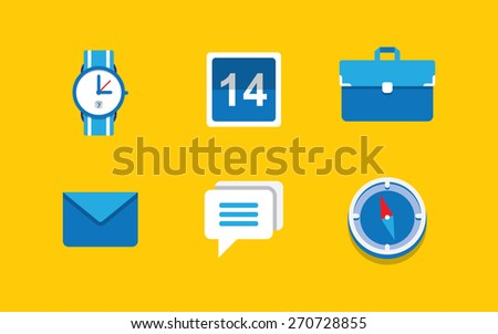 Computer icon set for web design and programms - stock vector