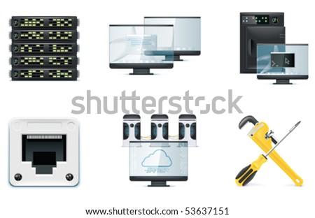 Computer icon set. Part 2 - stock vector